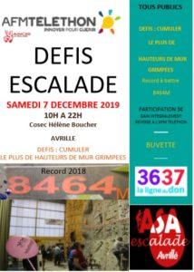 L'ASA Escalade avec le Téléthon @ Cosec Hélène Boucher